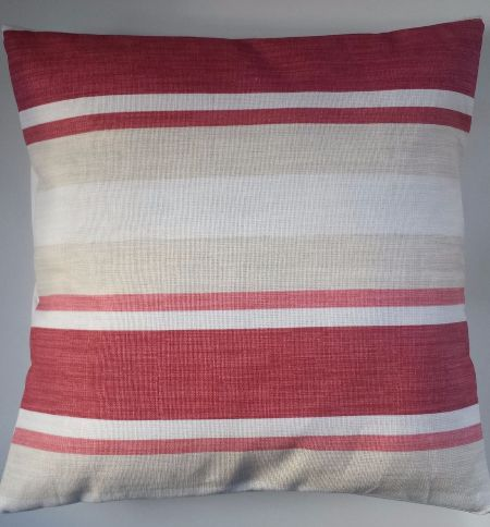 Cushion Cover In Laura Ashley Awning Stripe Cranberry Red