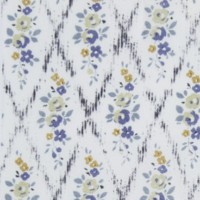 Ceramic Wall Tiles Made With Liberty of London Mae Trellis Rose Cornflower Blue