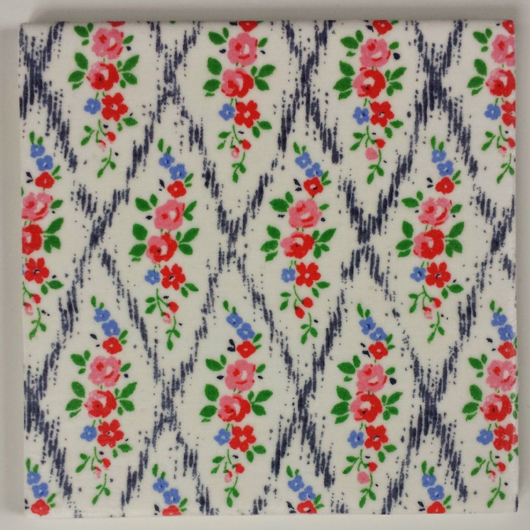 Ceramic Wall Tiles Made With Liberty of London Mae Trellis Rose Navy