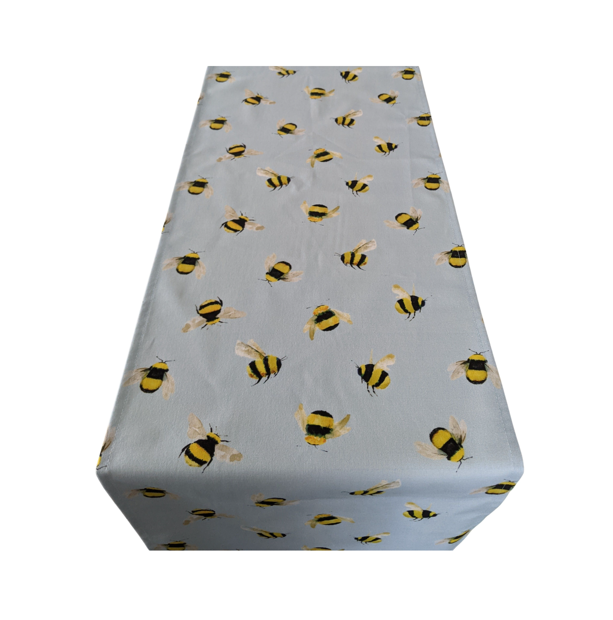 Blue Bumble Bee Table Runner
